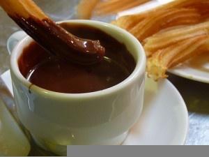 churros con chocolate by Omar Parada