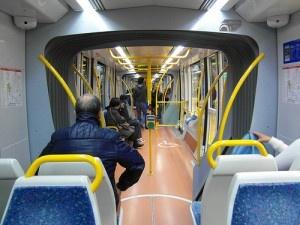Madrid - Inside Tram - Metro Ligero ML1