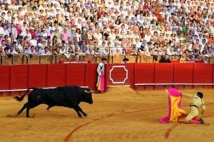 Toros en la Maestranza, Morante a Puerta Gayola by Chodaboy