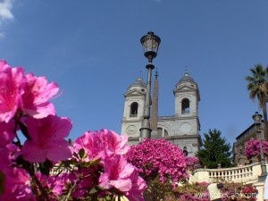 Spanish steps in spring by Rome Cabs