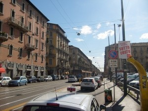 Taxi rank Milan by jamiejohndavies
