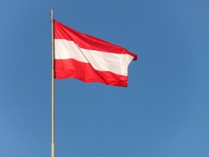 Austrian flag by James Cridland