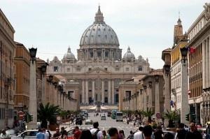 View down Via della Conciliazione to St. Peter's Basilica by jimmyharris