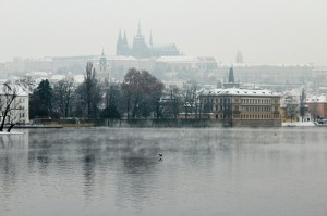 Vltava River in winter by Charlotte90T
