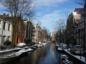 Amsterdam canals in winter by natasja db