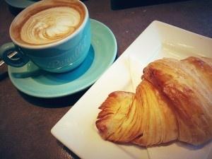 Croissant et cafe au lait by Christine Rondeau