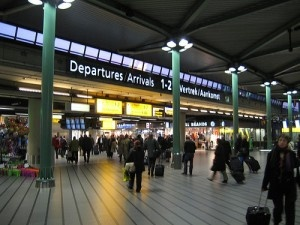 Schiphol airport train station by clint mcmahon