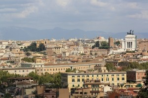 View of Rome from the Fontana dell'Acqua Paola by Rene Cunningham
