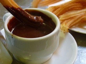 churros con chocolate by Omar Parada