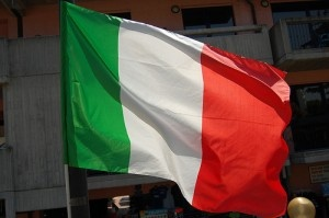 Italian flag by Floris M. Oosterveld