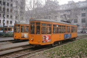 Trams in Milan by LHOON